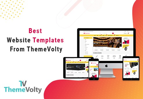 Modèles de sites Web de concepteur Web de ThemeVolty